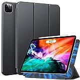 ZtotopHülle Hülle für iPad Pro 12.9 2020(4.Generation),Magnetisches Ultra Schlank leichte & Klappständer Schutzhülle mit Automatischem Schlaf/Aufwach,Unterstützt Das Aufladen des iPad Stift,Grau