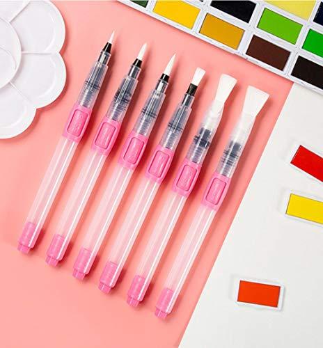 TUOF 6 Stks Refill Paint Brush Set Water Brush Zachte aquarel Penseel Pen Voor Beginner Schilderen Tekening Kunst benodigdheden