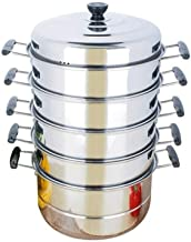 DPWH Household Stainless Steel Steamer Thick And Durable Convenient Safe And Sanitary Soup Pot Suitable For Induction Cook...