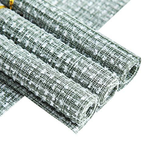 Berglander Manteles individuales, Manteles individuales resistentes al calor Alfombrillas de PVC lavables antideslizantes y resistentes a las manchas Manteles individuales de...