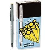 Pilot 11001 Razor Point Marker.3mm, Extra Fine, Black Ink