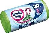 Handy Bag 1 Rouleau de 12 Sacs Poubelle 30 L, Poignees Coulissantes, Devor Odeur,...