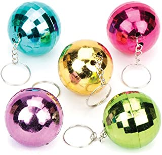 Baker Ross Disco Glitter Ball Keyrings for Kids (Pack of 6) Fun-Packed Toys at Pocket Money Prices - Perfect Party Favor Bag Fillers for Children