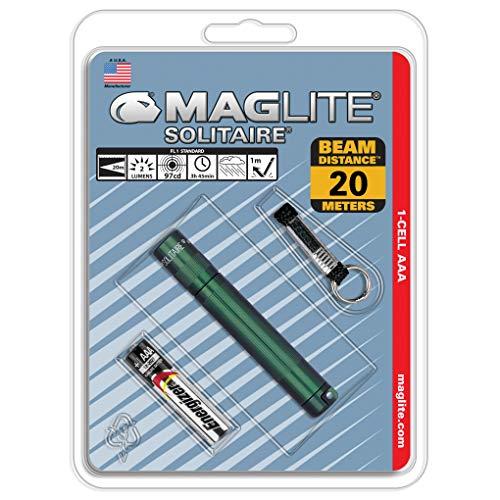Mag-Lite K3A396 Solitaire Mini Lampe de Poche Métal Vert 8 cm