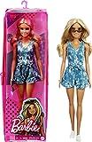 Barbie Fashionista Muñeca rubia con mono tie-dye y accesorios de moda de juguete (Mattel GRB65)