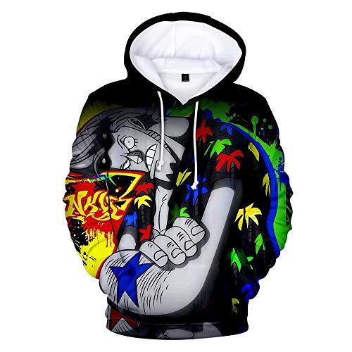 One Piece Hoodie für Männer 3D Print Reißverschluss Anime Pullover Sweatshirt AFFE D Ruffy Ass Sabo Shanks Law Battle Trainingsanzug Outfit Casual Oberbekleidung