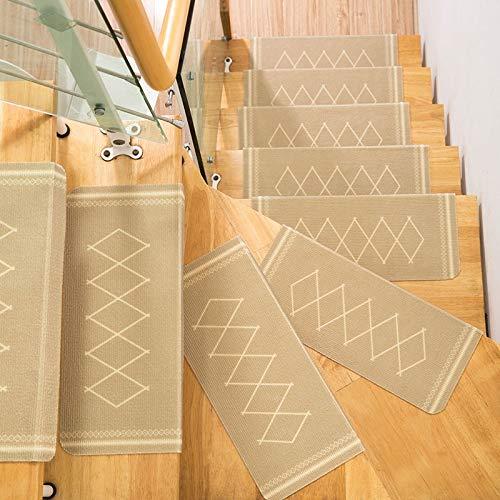 QFLY-RUGS Tapijt voor trappen, geruit, zachte bekleding, antislip, zelfklevend, stapsgewijze etiket voor decoratie van het huis Micfly