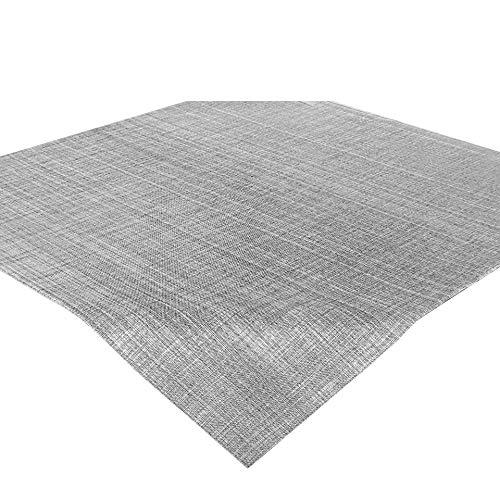 Delindo Lifestyle Tischdecke Samba, grau, Mitteldecke in 85x85 cm, Fleckschutz, abwaschbar, für Indoor und Outdoor