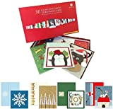 Burgoyne 30 Elegant Hand Crafted Christmas Cards with Matching Self-Seal Envelope