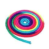 Keenso Cuerda para Jugar Gimnasia Artística, Cuerda de Color Arcoíris de Nylon de 2.8 m, Material de Entrenamiento para Gimnasia