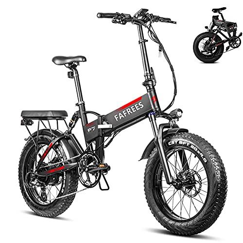 Fafrees 20 Pulgadas Bicicleta Eléctrica Plegable Motor 750W, Shimano 7S, Batería Panasonic...