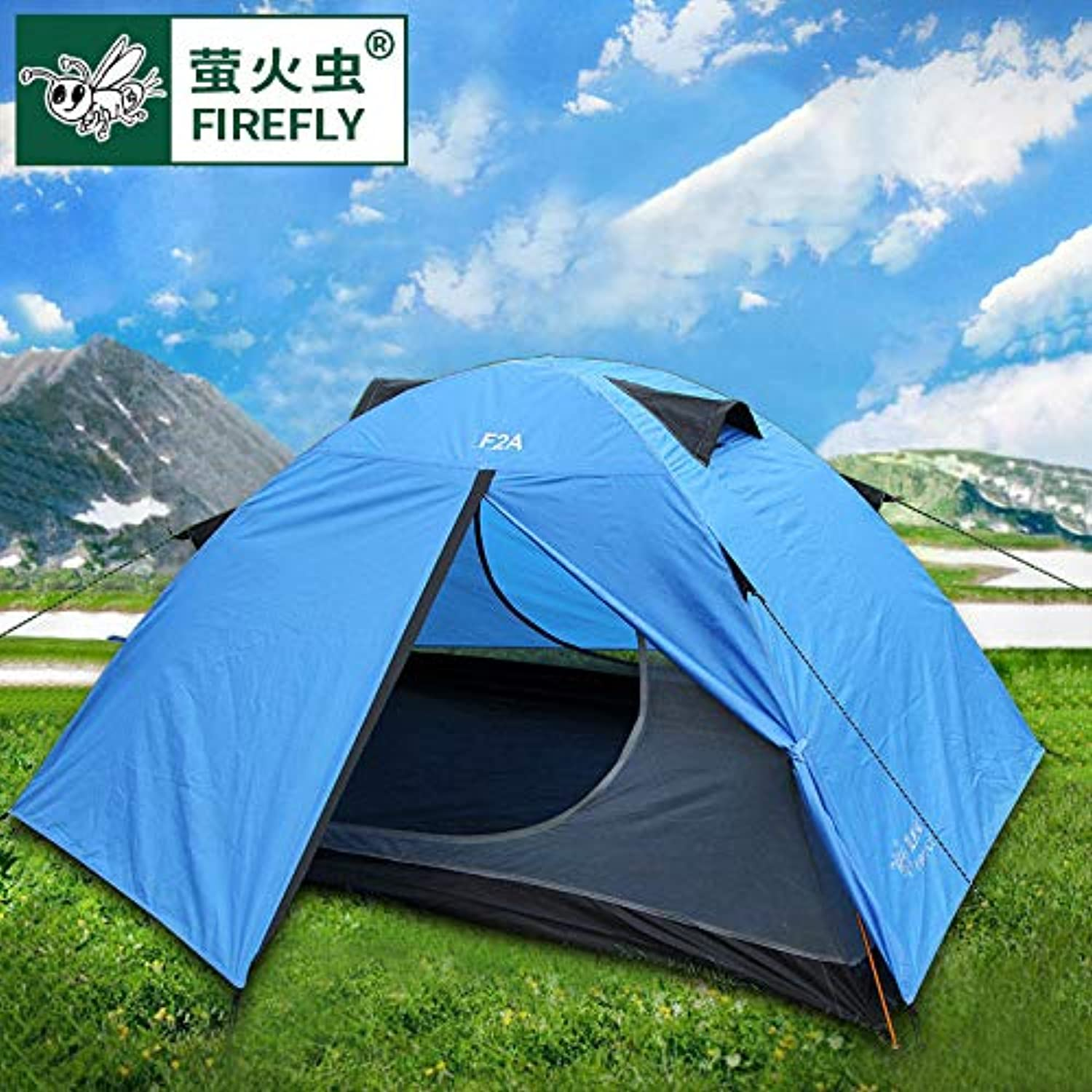 Firefly Aluminum Pole Double Weatherproof Outdoor Camping Camping Equipment Mountaineering Hand on 2 Person Tent 34