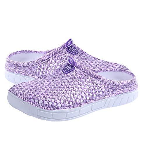 WFZ17 , Damen Hausschuhe violett violett 41
