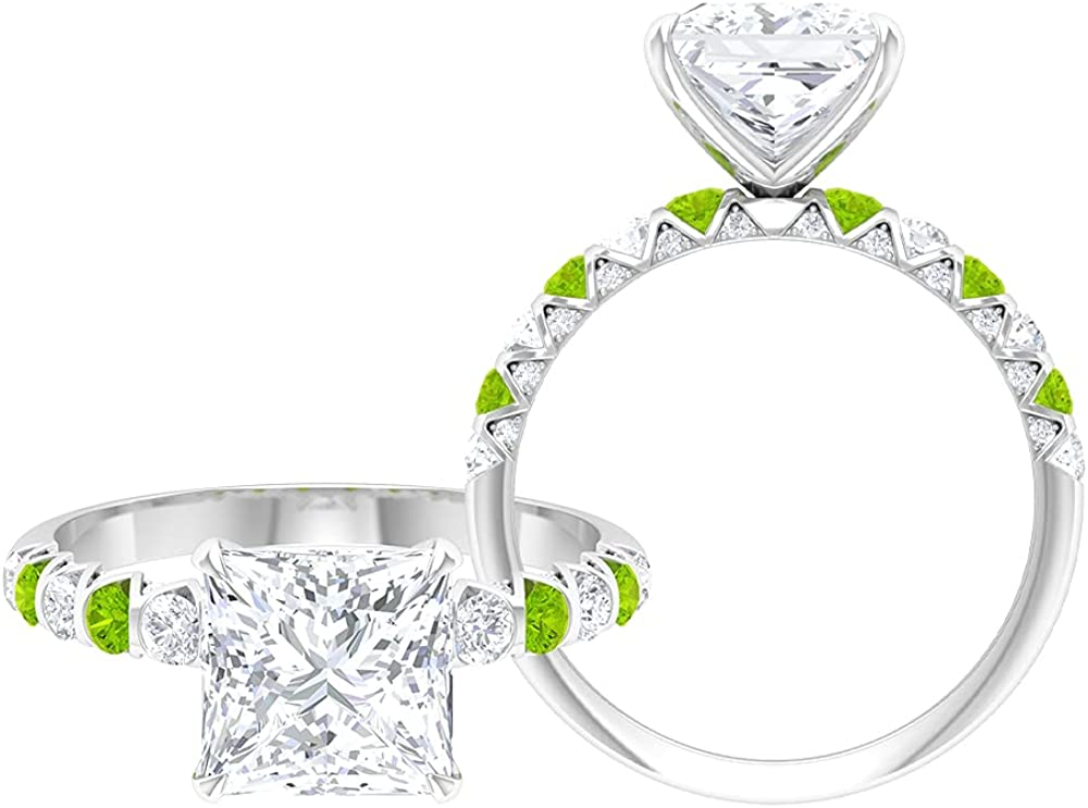3.50 CT Princess Fashionable Cut Solitaire Kryptonite Created Moissanite A surprise price is realized and