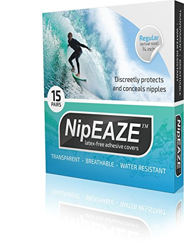 NipEaze ~ The Original Transparent Nip Protector - Nipple Chafing Prevention (Regular - 15pairs)
