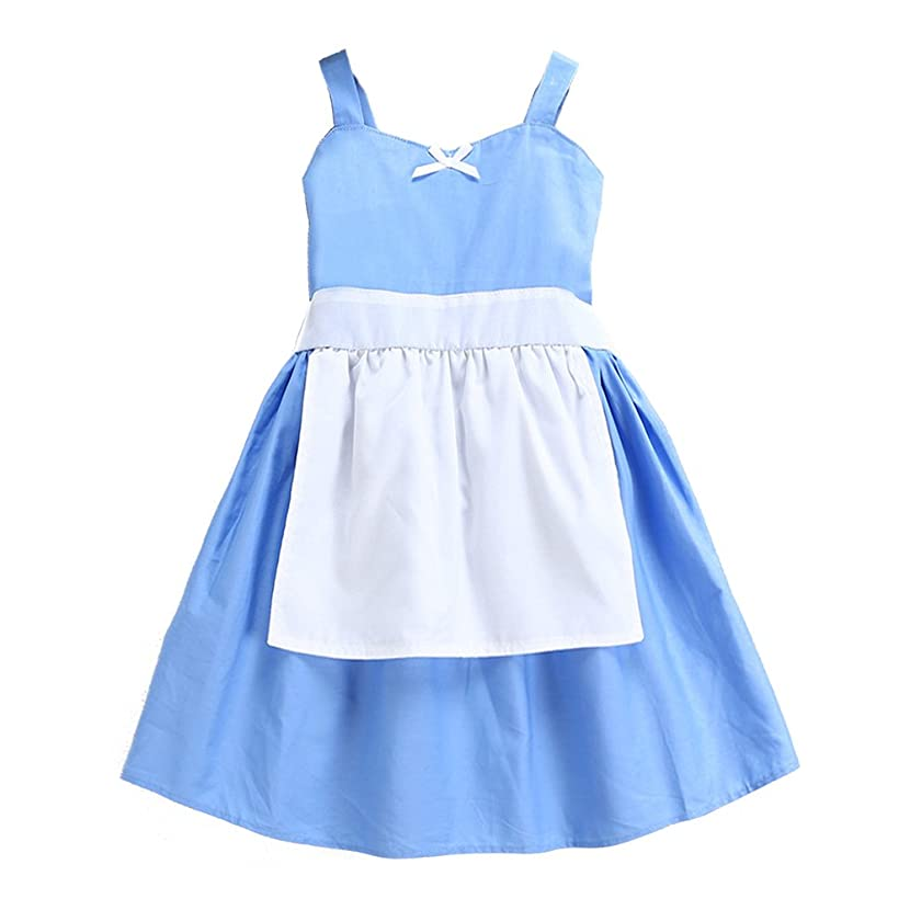 Bindun Baby Girls' Snow White/Alice/Cinderella Maid Cosplay Costume Princess Dress with Apron