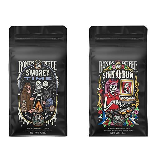 Bones Coffee Company S'morey Time and Sinn-O-Bunn Ground 12 oz Bag Bundle