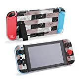 SUPNON Vector White, and Black Brick Marble Compatible with Nintendo Switch Console & Joy-Con Protective Case, Durable Flexible Shock-Absorption Anti-Scratch Drop Protection Cover Shell Design31347