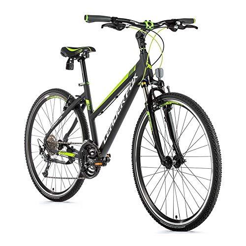 28 Zoll Alu Leader Fox Daft Lady Fahrrad Cross Bike Shimano Grau Grün RH42cm