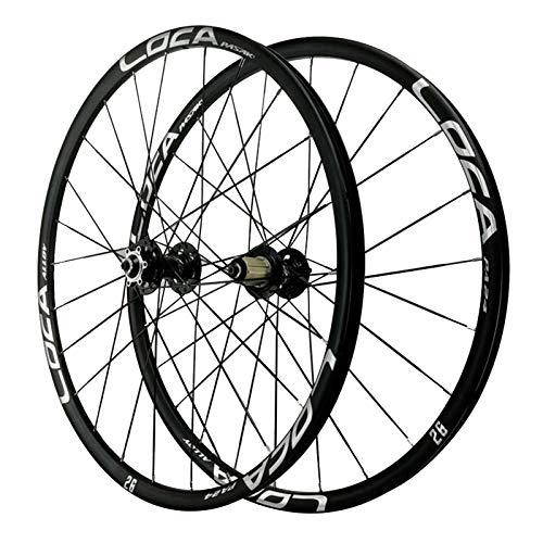Rueda para Bicicletas 27,5 Pulgadas,Llanta MTB de Doble Pared Trasero Rueda 24 Orificios Bicicleta de Montaña Liberación Rápida 8/9/10/11/12 Velocidad (Color : Black, Size : 27.5in)