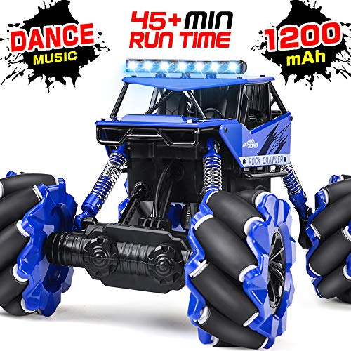 NQD RC Cars, 360° Rotating Drift Stunt Remote Control Car, 1:16 Dancing Off Road Remote Control Truck, 2.4Ghz 4WD Monster Truck for Kids and Adults