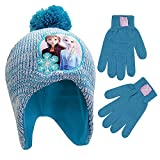 Disney Winter Hat, Kids Gloves or Toddlers Mittens, Frozen Elsa and Anna Baby Beanie for Boy Ages, Pantone/Silver, Little Girl Age 4-7