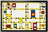 1art1 Piet Mondrian - Broadway Boogie Woogie, 1942-43 Felpudo Alfombra (60 x 40cm)