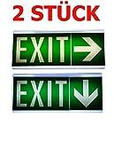Lot de 2Lampe d'urgence Éclairage d'urgence Exit sortie de secours fuite Lampadaire Lumière d'urgence fuite voie Exit Il