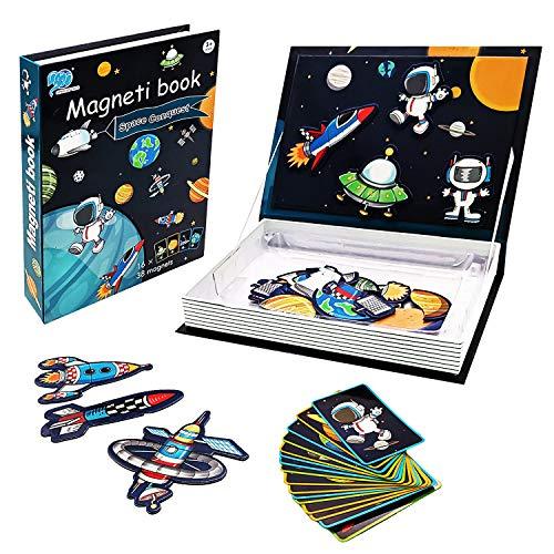 FGZU Juguetes de aprendizaje para niños de 2 a 4 años, rompecabezas magnético para niños de 3, 4, 5, 6, 7, 8 – Libro de rompecabezas para niños pequeños de 3 a 12 años y niños pequeños.