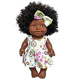 Sunflowerany African Baby Alive Doll Schwarze Puppe Puppe Afrikanische Umweltschutz Gummipuppe