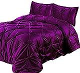 Lewima 3D XL Biesen Edel Luxus hochwertige Velvet Bettüberwurf Tagesdecke 220x240cm Überwurfdecke Farbe: Amarath