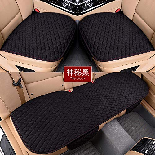 TURING Car-Seat-Covers Pad-Protector Linen Rear Full-Set Flax Anti-Slip Choose