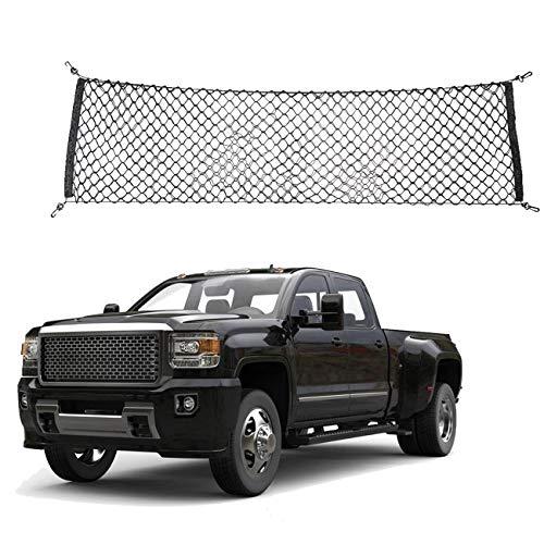 Red de carga elástica ajustable y resistente – Organizador de carga trasera de nailon para coche, SUV, camión, cajuela de carga, organizador de red de almacenamiento
