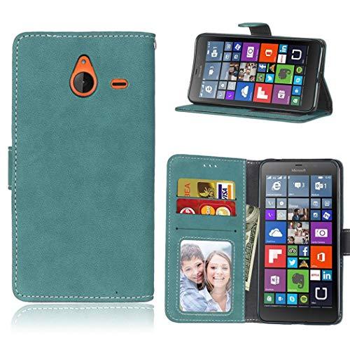 Ycloud Portafoglio Custodia per Nokia Microsoft Lumia 640XL Smartphone, Opaca Texture PU Pelle Magnetica Flip Caso Cover con Fessura Carte e Funzione Staffa (Blu)