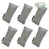 Mini Bamboo Charcoal Air Purifying Bag Shoe Deodorizer 6 Pack,75g Odor Eliminator