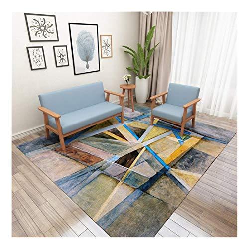 GEDTFC Tapis rectangulaire Simplicité Moderne Salon Résumé Table Basse Canapé Chambre Couverture de Chevet Yoga Mat (Size : 1.2 × 1.8 m)