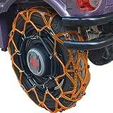 Luoshan Cadenas reutilizable universal con ajuste automático de nieve del invierno del coche eléctrico de la batería de coche...