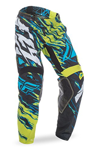 Fly Racing Unisex-Adult Kinetic Relapse Pants (Lime/Blue, Size 34)