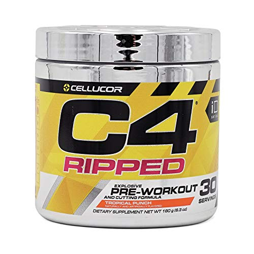 Cellucor C4 Ripped Pre-Workout Mix, Tropical Punch, Pack of 30 Servings