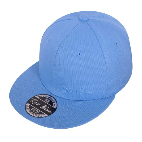 Raw Blue Basic Signature Snapback in Sky / Sky