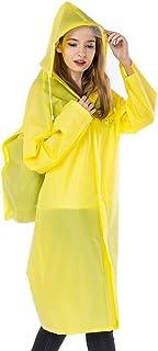 RYY Raincoats Reusable Poncho, Rain Resistant Raincoat Emergency Mountaineering Rainwear for Adultsr (Color : Yellow, Size...