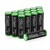 HiQuick Mignon AA Akku 2800mAh 16 Stücke mit hoher Kapazität geringe Selbstentladung, 1,2V aufladbare Batterien