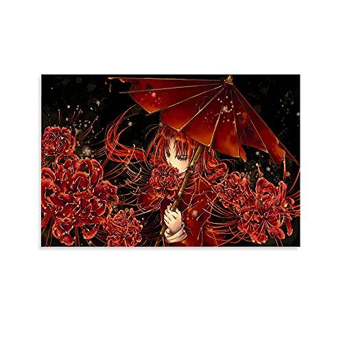 Póster de anime de plata de la torre del alma de la pintura decorativa de la pared del arte de la pared de la sala de estar carteles del dormitorio pintura de 30 x 45 cm