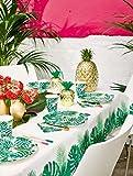 Talking Tables Tropical Fiesta, Pappteller mit Blattmotiv, grün, 23 cm (8 Stück in 1 Design) - 3