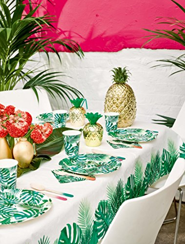 Talking Tables Tropical Fiesta, Papiertischdecke mit Blattmotiv, mehrfarbig, 180 x 120 cm