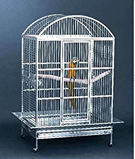 Large 304 Stainless Steel Bird Parrot Macaw Cage Dometop Macaws