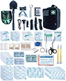 WildmanSurvival 313 pcs. Survival First Aid Kit Outdoor, Home, Office Emergency First Aid Tri-fold...
