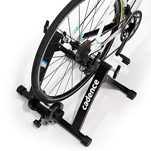 CADENCE Indoor Exercise Bike Trainer Stand | Convert your bicycle into a stationary exercise bike for your home gym | Magnetic resistance | Compatible with road, hybrid and mountain bikes