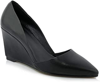 BalaMasa Womens Fashion Travel Solid Urethane Pumps Shoes APL11006