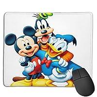 ドナルドダックとミッキーマウスが遊んでいます6 マウスパッド おしゃれ 高級感 ゲーミング オフィス最適 滑り止めゴム底 付着力が強い 耐久性が良 22x18x0.3cm